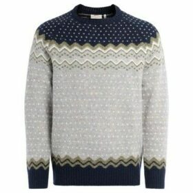 Fjallraven  Övik Knit sweater in embroidered wool  women's Sweater in Blue