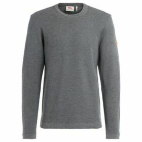 Fjallraven  High Coast model sweater in extra soft gray merino wool  women's Sweater in Grey