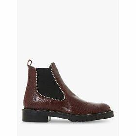 Dune Prestige Croc Patent Leather Ankle Boots