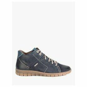 Josef Seibel Steffi 58 Leather Ankle Boots, Blue