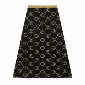 Wool skirt with GG motif