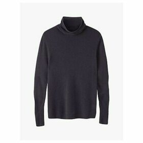 Pure Collection Cashmere Lofty Polo Sweater, Smoke