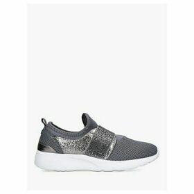 Carvela Comfort Connie Embellished Strap Sock Trainers, Black