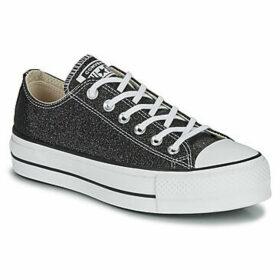 Converse  CHUCK TAYLOR ALL STAR LIFT GLITTER OX  women's Shoes (Trainers) in Black
