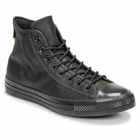 Converse  CHUCK TAYLOR ALL STAR LEATHER MONO  HI  women's Shoes (High-top Trainers) in Black