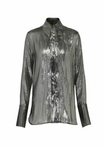 Metallic Joplin blouse shirt