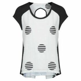 Mado Et Les Autres  Polka dot t-shirt  women's Blouse in White
