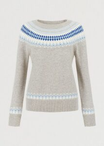 Layla Merino Wool Blend Sweater Grey Multi