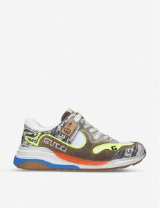Ultrapace leather and textile trainers