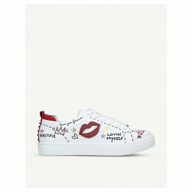 Zaunna graphic trainers