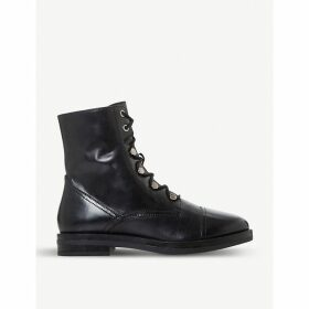 Peplume lace-up leather boots