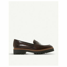 Gecho leather penny loafers
