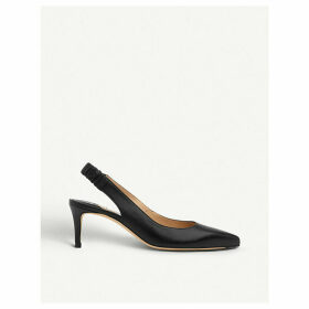 Irena leather slingback courts