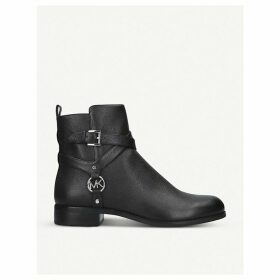 Preston Flat harness leather ankle boots