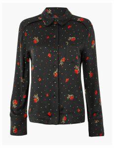 Per Una Floral Print Satin Shirt