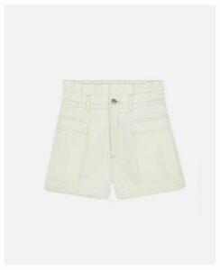 Stella McCartney White Denim Shorts, Women's, Size 31