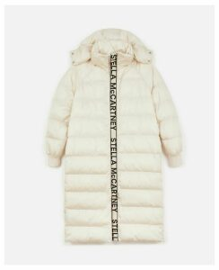 Stella McCartney Ivory Quilted Puffer Jacket, Women's, Size 12