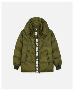 Stella McCartney Green Quilted Puffer Jacket, Women's, Size 14