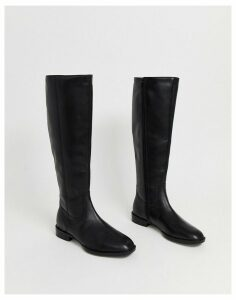 ASOS DESIGN Charisma leather smart riding boot-Black