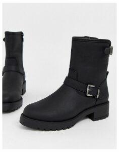 ASOS DESIGN August biker boots in black