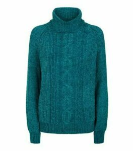 Blue Vanilla Blue Cable Knit Jumper New Look