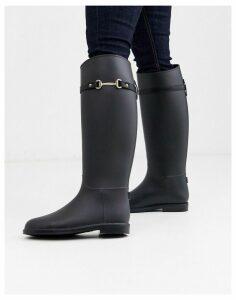ASOS DESIGN Giorgio riding boot wellies-Black