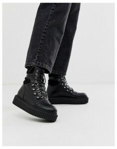 Lamoda black creeper sole hiker boots