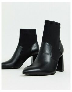 Stradivarius heeled boot in black