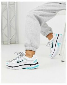 Nike White And Aqua P-6000 Trainers