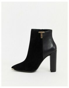 Ted Baker Inala leather heeled ankle boots-Black