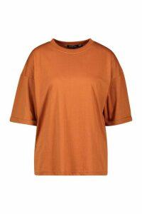 Womens Tall Turn Up Boxy T-Shirt - orange - 12, Orange