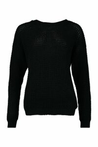 Womens Tall Crew Neck Jumper - black - L, Black