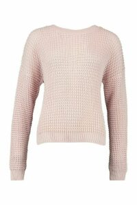 Womens Tall Crew Neck Jumper - pastel pink - S, Pastel Pink