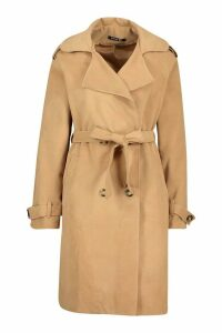 Womens Tall Military Double Breasted Wool Look Coat - beige - 14, Beige