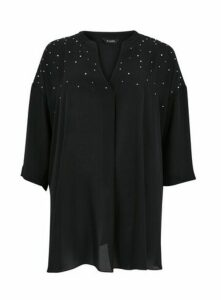 Black Sparkle Shirt, Black
