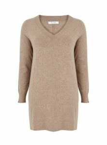 Neutral V-Neck Tunic, Camel