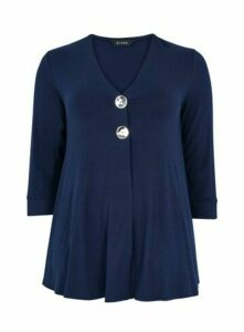 Navy Blue Button Detail Top, Navy
