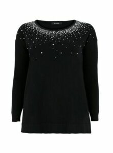 Black Embellished Jumper, Black