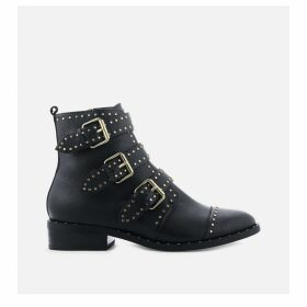 Galatea Leather Buckle Boots