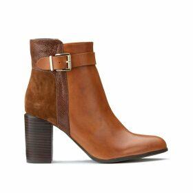 Boots cuir à talon Batide