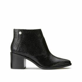 Ghiga Snake Bootie Heeled Suede Boots
