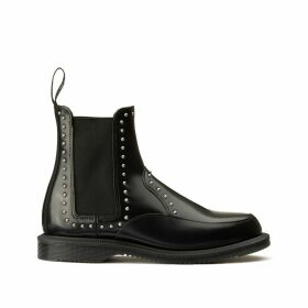 Aimelya Leather Chelsea Boots with Stud Detail