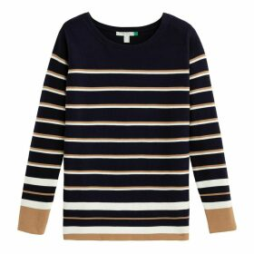 Tricolour Breton Striped Jumper in Organic Cotton