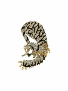 Susan Caplan Vintage 1960s tiger dragon brooch - GOLD