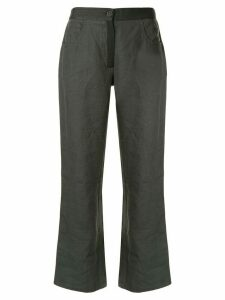 Chanel Pre-Owned cropped straight trousers - Green