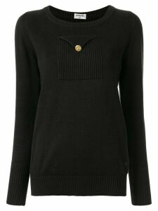 Chanel Pre-Owned chest pocket jumper - Black