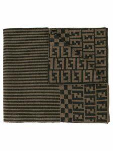 Fendi Pre-Owned Zucca print scarf - Brown