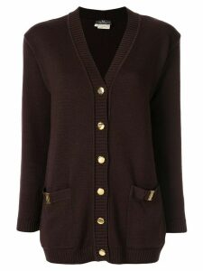 Salvatore Ferragamo Pre-Owned Vara buttoned cardigan - Brown