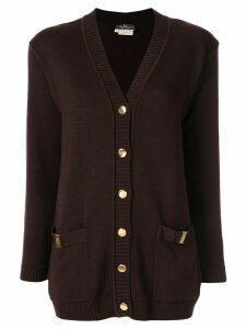 Salvatore Ferragamo Pre-Owned Vara buttoned cardigan - Brown