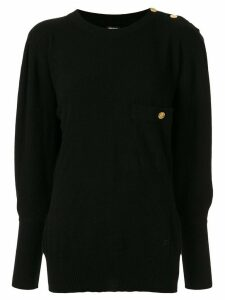 Chanel Pre-Owned cashmere dolman sleeve jumper - Black